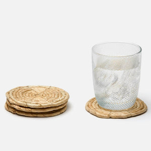 bleached round coasters