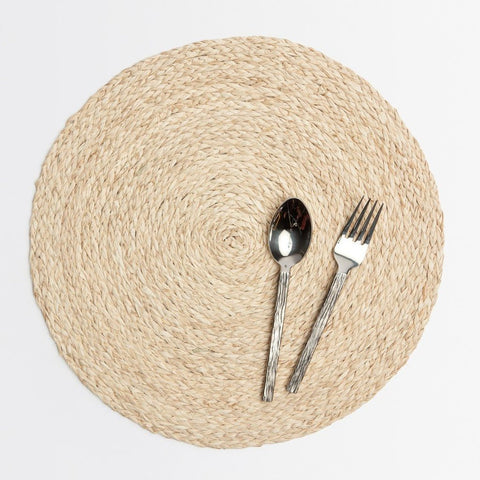 bleached raffia round placemats