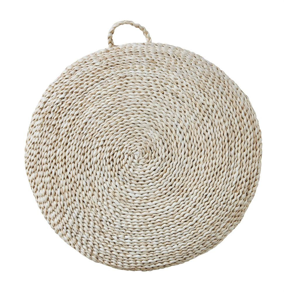 woven straw floor cushion