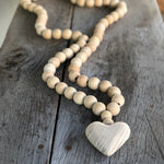 prayer beads with heart