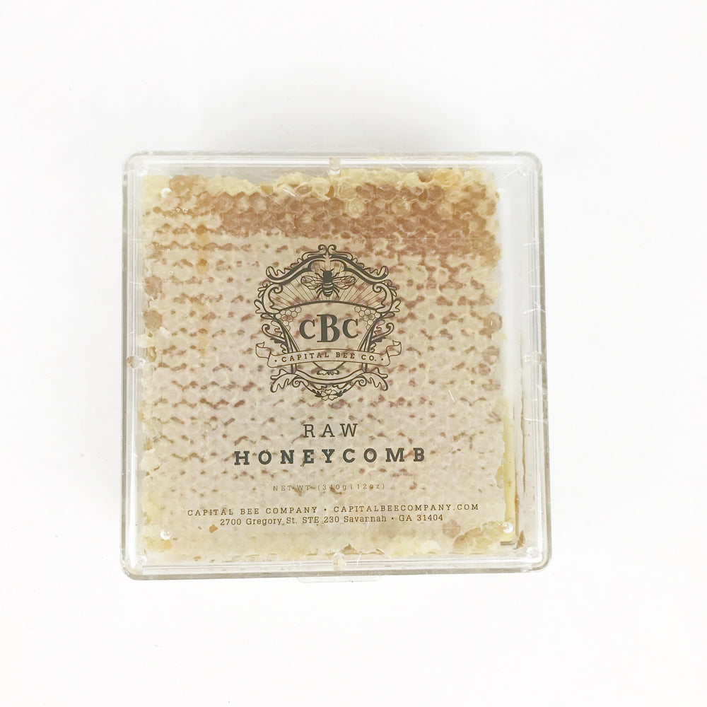 capital bee company raw cut honeycomb square