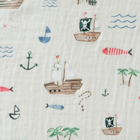 treasure map swaddle blanket