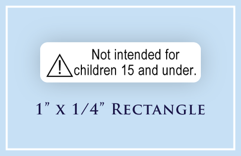 "1"" x 1/4"" Rectangle <p>Child Safety Warning Labels"