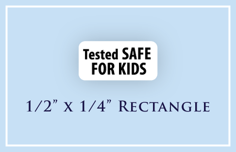 "1/2"" x 1/4"" Rectangle <p>Child Safety Warning Labels"