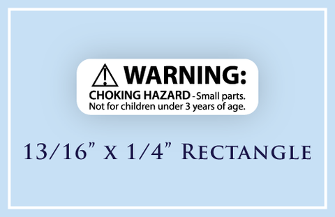 "13/16"" x 1/4"" Rectangle <p>Child Safety Warning Labels"