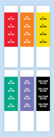 "1"" x 4-1/2"" Rectangle<p>Clothing Size Labels"