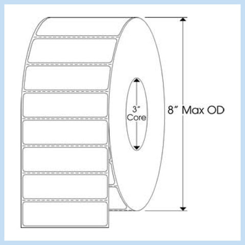 "PLT-265 3-1/2"" x 1"" Rectangle<p>Blank White Thermal Transfer Labels"