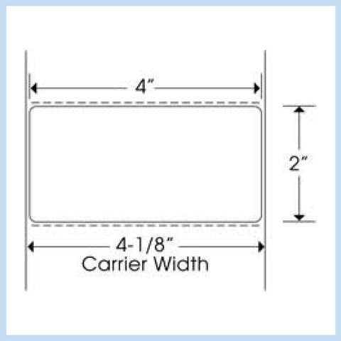 "PLT-270 4"" x 2"" Rectangle<p>Blank White Thermal Transfer Labels"