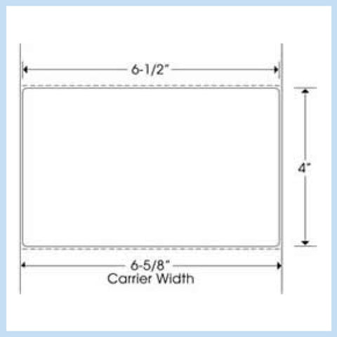 "PLT-310 6-1/2"" x 4"" Rectangle<p>Blank White Thermal Transfer Labels"