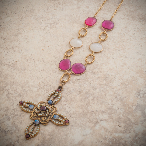 RENAISSANCE CROSS NECKLACE