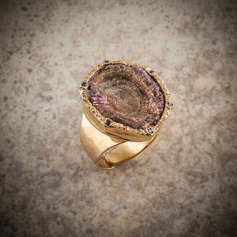 COSMIC DRUZY COCKTAIL RING