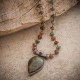 TIBETAN TEARDROP NECKLACE