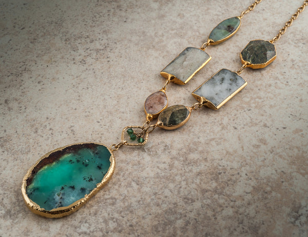 CHEROKEE CHRYSOPRASE STATEMENT NECKLACE