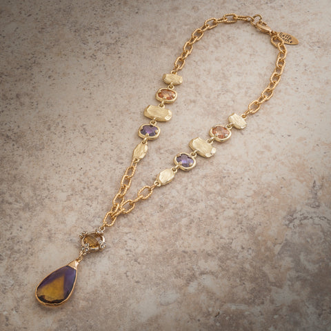 TEARDROP AMETRINE NECKLACE