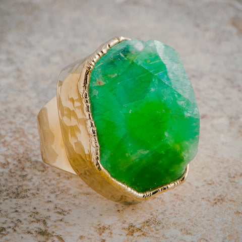MELON QUARTZ STATEMENT RING