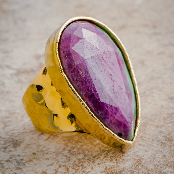 RUBY ZOISITE STATEMENT RING