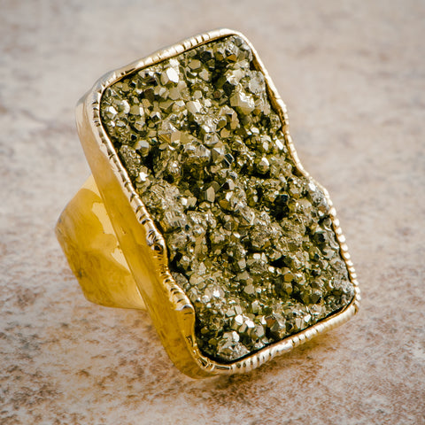 PYRITE STATEMENT RING