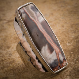 JASPER AGATE STATEMENT RING