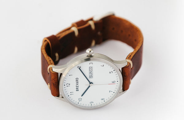 Brevard Watch with Leather Strap