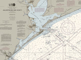 Galveston Bay And Vicinity Nautical Chart