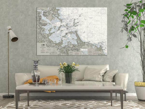 Boston Harbor Nautical Chart