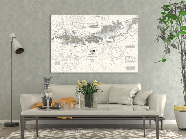 Virgin Islands Nautical Chart