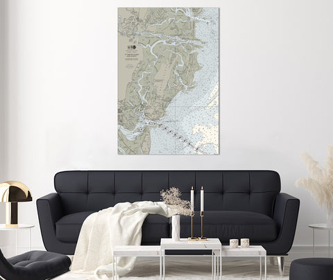 St Simons Island, GA Nautical Chart