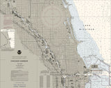 Chicago Harbor Nautical Chart