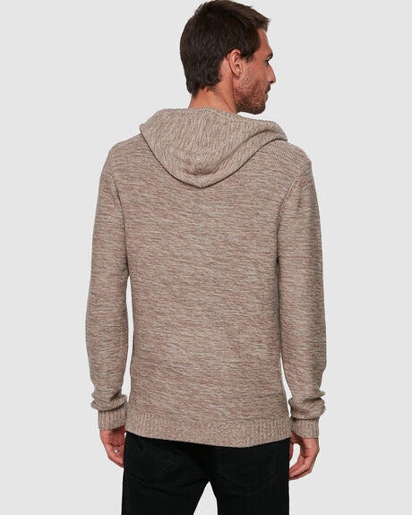 Skyliner Hood Knit - Snow Marle