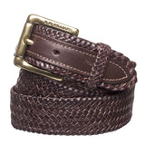 Plaited Buckle Belt - Brown