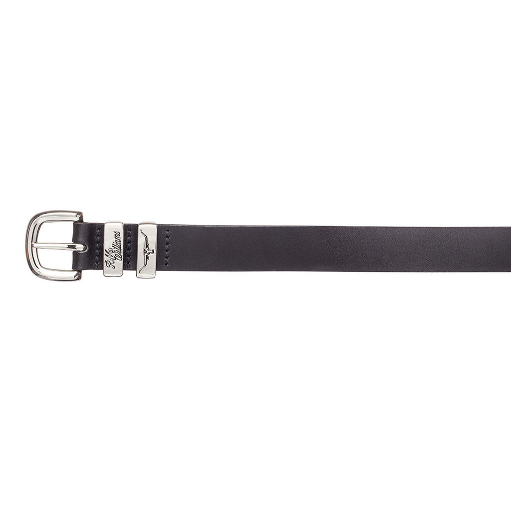 "1 1/4"" 3 Piece Solid Hide Belt - Black"
