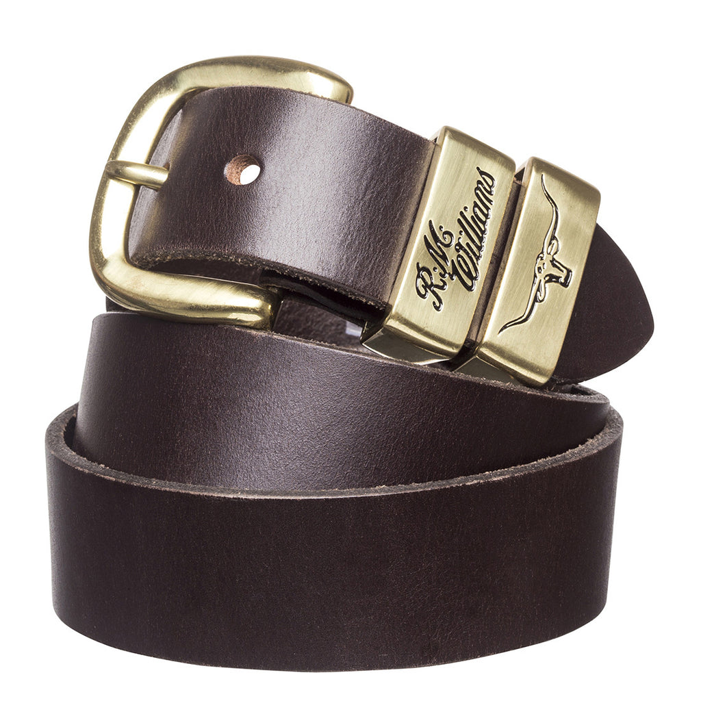"1 1/2"" 3 Piece Solid Hide Belt - Chestnut"