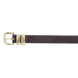 Solid Hide Belt - Gold/Chestnut