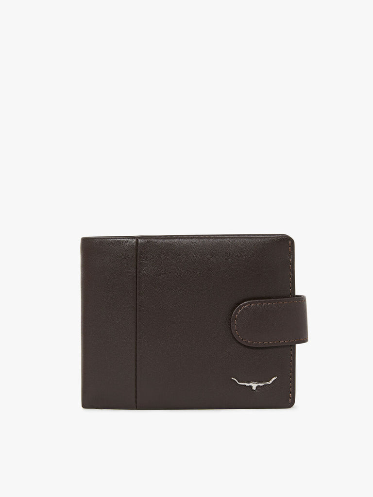 Wallet with coin pkt and tab - Brown