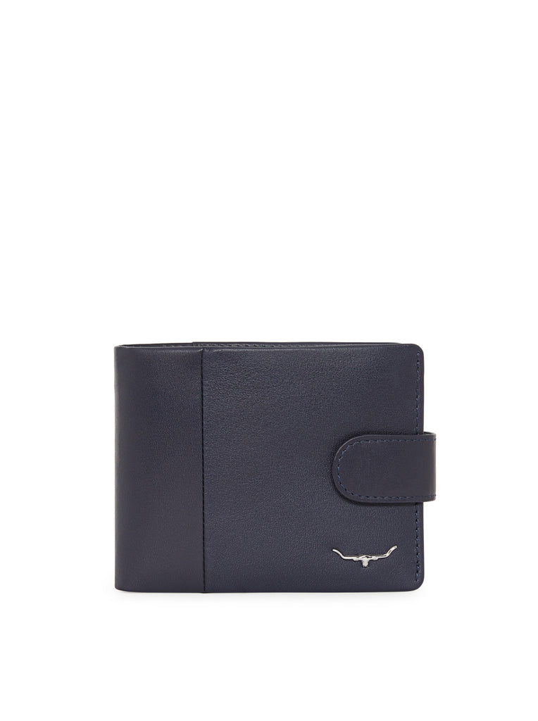 Wallet with coin pkt and tab - Navy