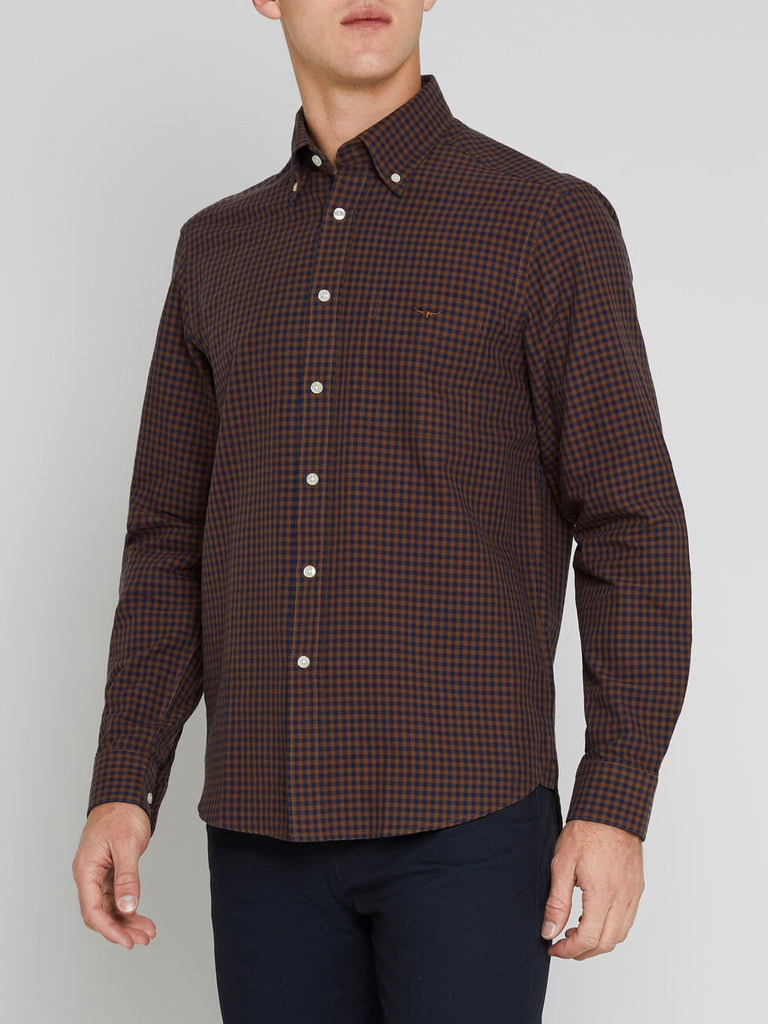 Collins BD Shirt - Brown/Navy