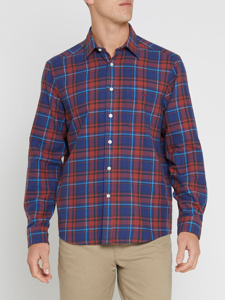 Collins Shirt - Navy/Blue/Red
