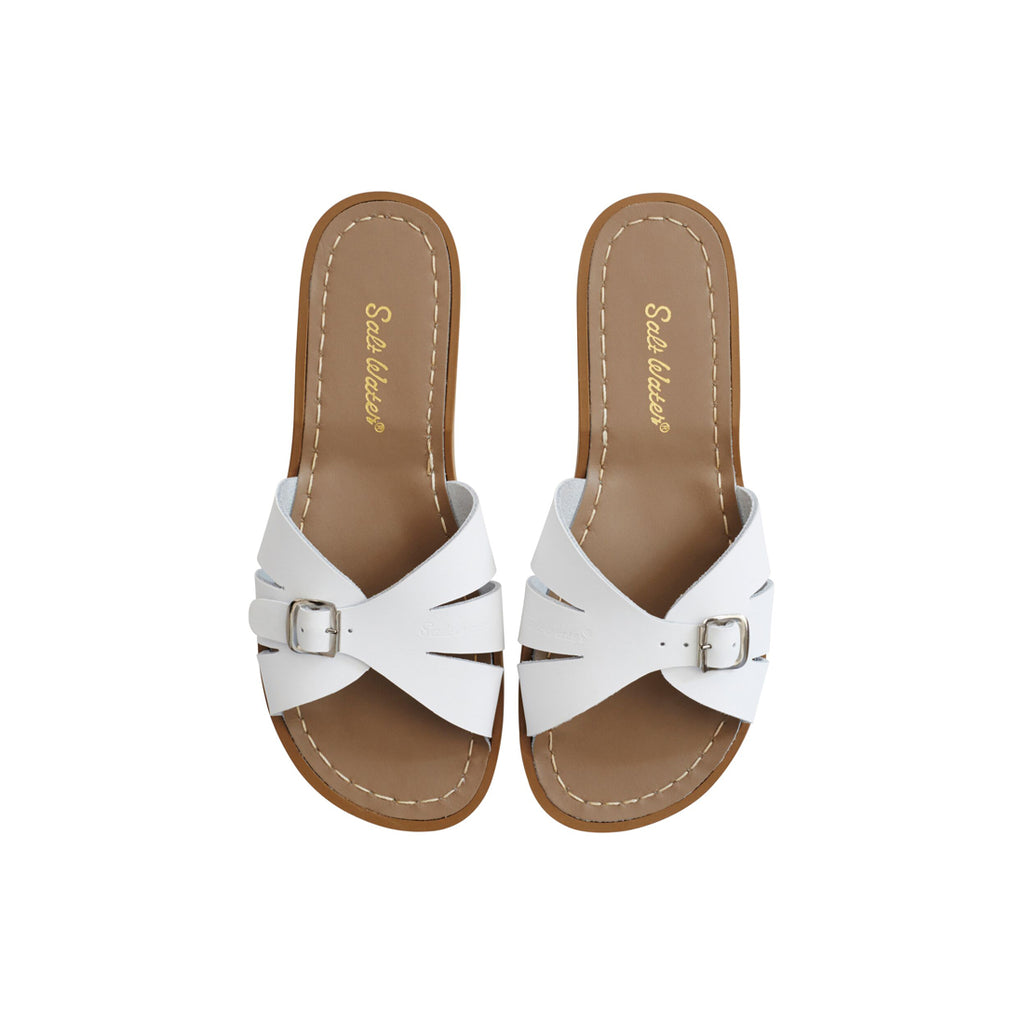 Saltwater Sandals Classic Slide - White