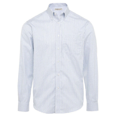 Milton Shirt L/S White/Blue