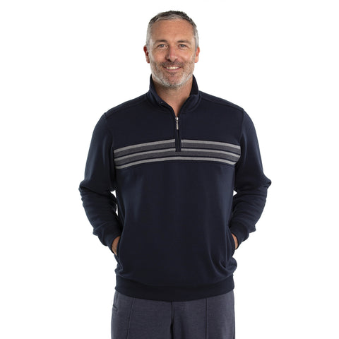 Ambie Snowy Mt Fleece 1/4 Zip - Navy