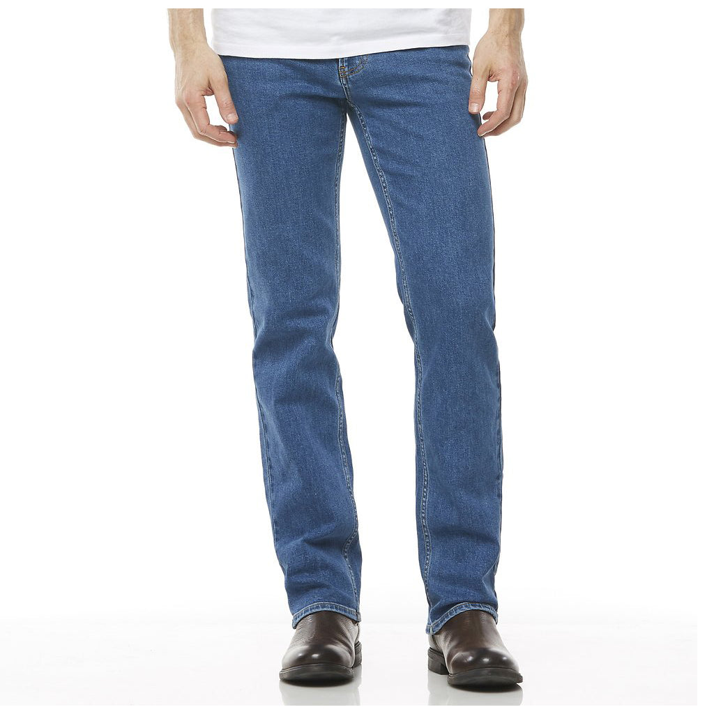 Straight Stretch Jean - Stonewash