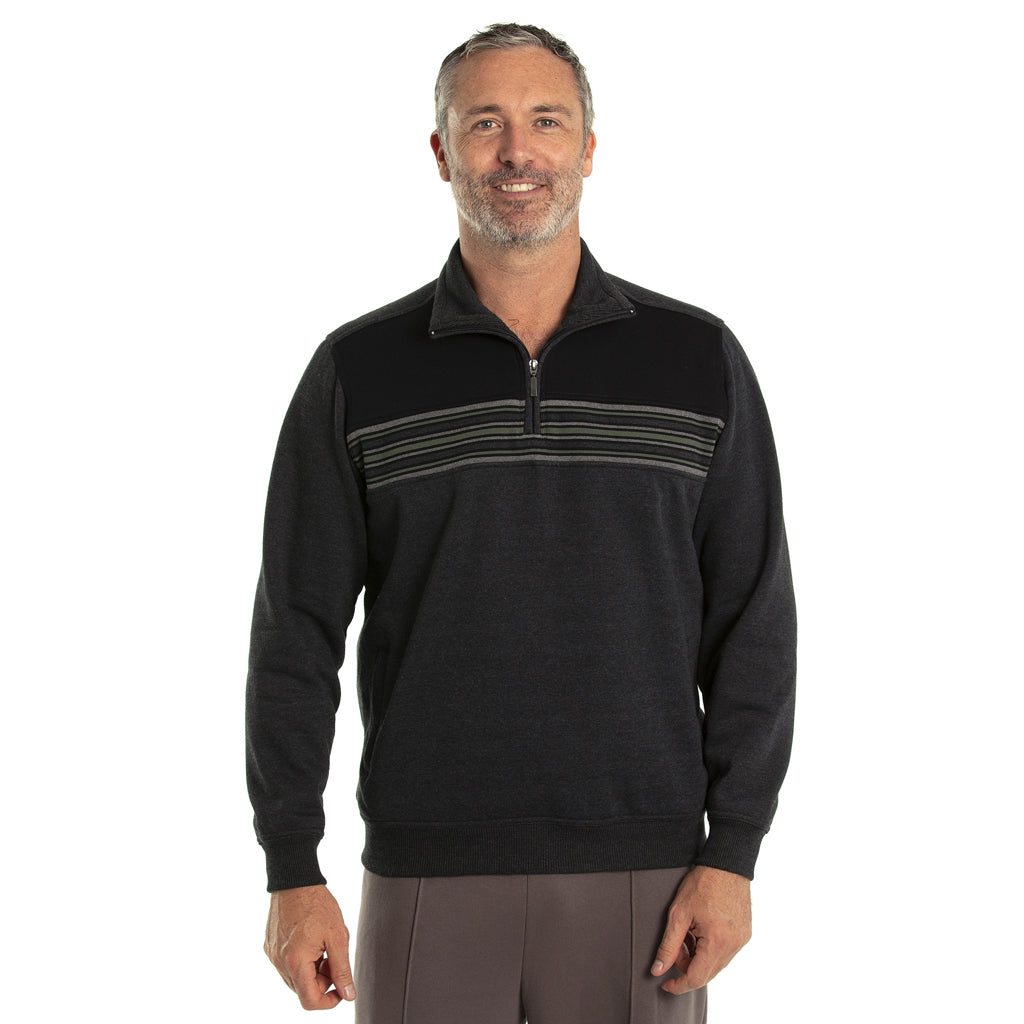 Dex Snowy Mt Fleece 1/4 Zip - Jet Marle
