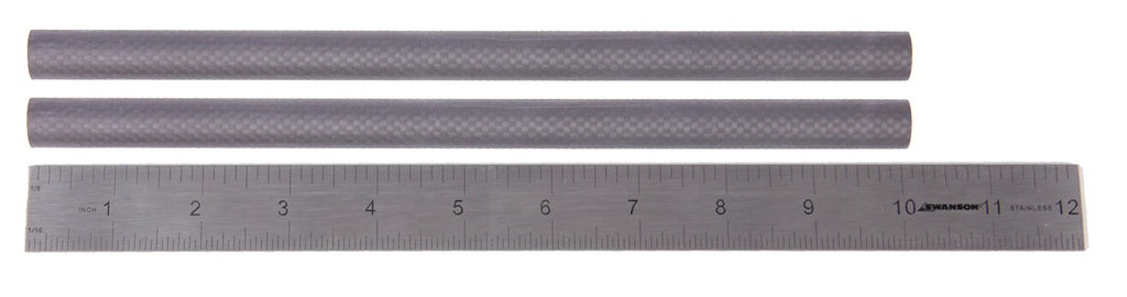 "Pair (2) of 10"" 15mm Carbon Fiber Rails"