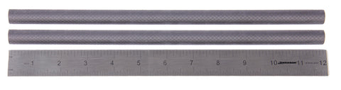"Pair (2) of 12"" 15mm Carbon Fiber Rails"