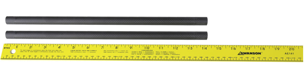"Pair (2) of 14"" 15mm Carbon Fiber Rails"