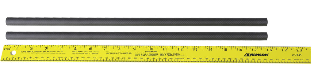 "Pair (2) of 18"" 15mm Carbon Fiber Rails"