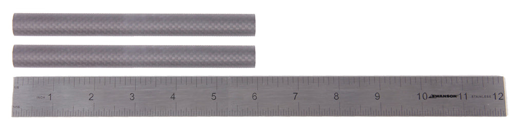 "Pair (2) of 6"" 15mm Carbon Fiber Rails"