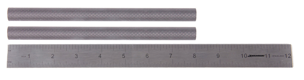 "Pair (2) of 8"" 15mm Carbon Fiber Rails"