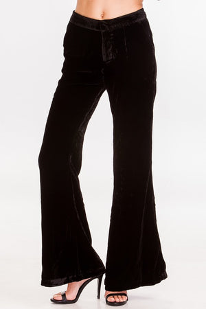 Velvet Wide Leg Trouser - Miss Scarlett Boutique