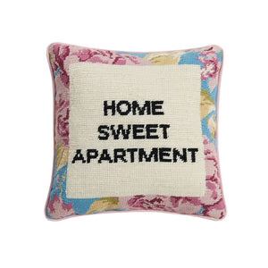 Peking Handicraft - Home Sweet Apartment Needlepoint Pillow